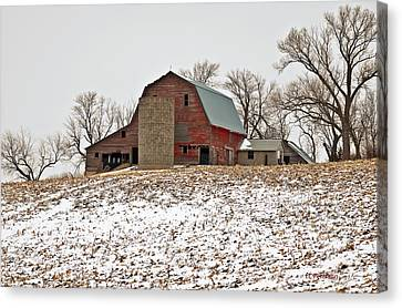 Old Red Barn Canvas Print by Edward Peterson