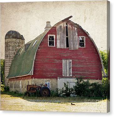 Old Red Barn Canvas Print by Tamera James