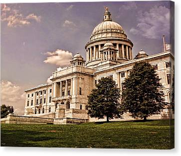 Old Rhode Island State House Canvas Print by Lourry Legarde