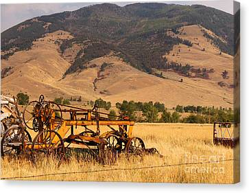 Old Road Grader Canvas Print by Rick Mann