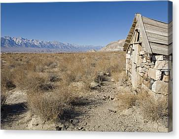 Old Rock Cabin At Dolomite Canvas Print by Rich Reid