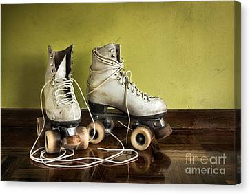 Old Roller-skates Canvas Print by Carlos Caetano
