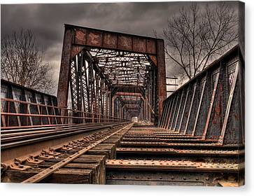 Old Rusty Bridge Canvas Print by Darren Landis