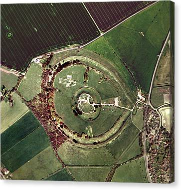Old Sarum Canvas Print by Getmapping Plc