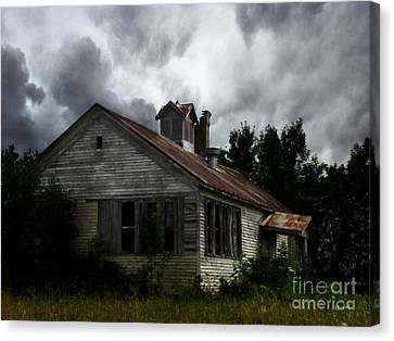 Old School House Canvas Print by Ms Judi