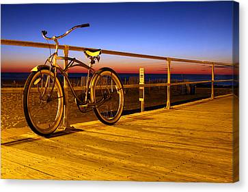 Beach Cruiser Canvas Print - Old School by Jeff Bord