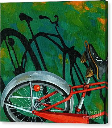 Old Schwinn Canvas Print by Linda Apple