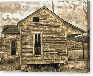 Old Shack Canvas Print by Gregory Dyer
