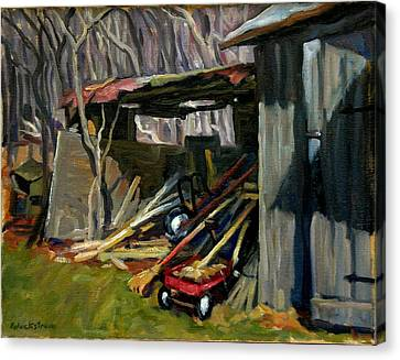 Old Shed Berkshires Canvas Print by Thor Wickstrom