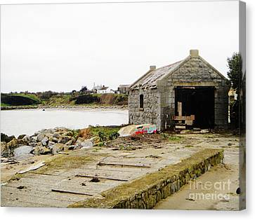 Old Shed By The Sea Canvas Print by Alan MacFarlane