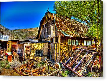 Old Shed Canvas Print by Jon Berghoff