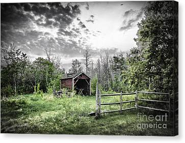 Old Shed Canvas Print by Lori Frostad