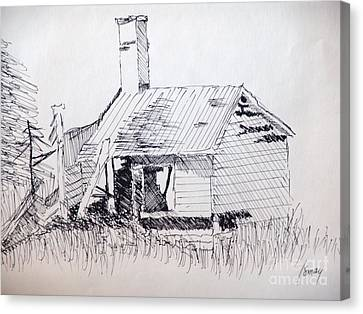 Old Shed Canvas Print by Rod Ismay