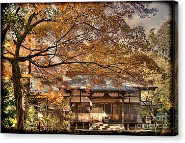 Old Shrine In Autum Canvas Print