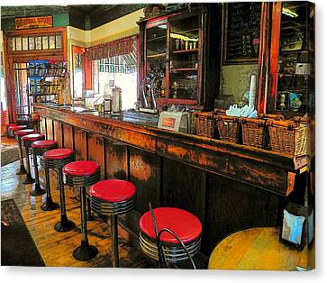 Old Soda Shoppe Canvas Print by Joyce Kimble Smith