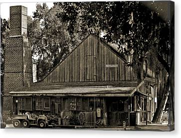 Canvas Print featuring the photograph Old Spanish Sugar Mill Old Photo by DigiArt Diaries by Vicky B Fuller