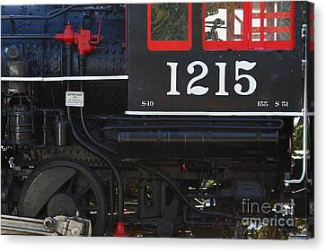 Old Steam Locomotive Engine 1215 . 7d13007 Canvas Print by Wingsdomain Art and Photography