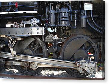 Old Steam Locomotive Engine 1258 . Wheels . 7d13000 Canvas Print by Wingsdomain Art and Photography