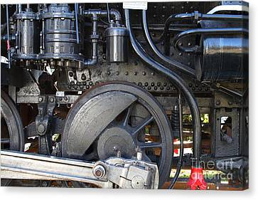 Old Steam Locomotive Engine 1258 . Wheels . 7d13001 Canvas Print by Wingsdomain Art and Photography