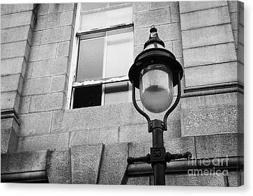 Old Sugg Gas Street Lights Converted To Run On Electric Lighting Aberdeen Scotland Uk Canvas Print by Joe Fox
