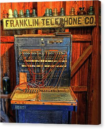 Old Switchboard Canvas Print by Dave Mills