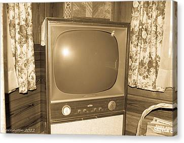 Old Television Canvas Print by Shannon Harrington