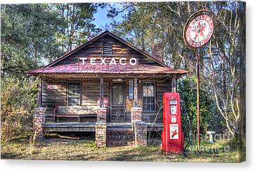 Old Texaco Service Station Canvas Print by Dustin K Ryan