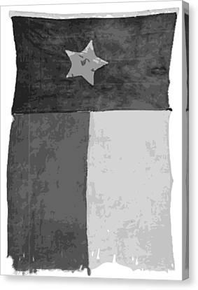 Old Texas Flag Bw10 Canvas Print by Scott Kelley