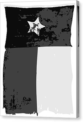 Old Texas Flag Bw3 Canvas Print by Scott Kelley