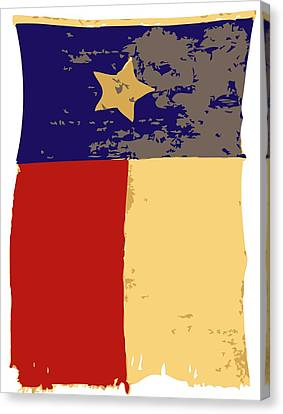 Old Texas Flag Color 6 Canvas Print by Scott Kelley