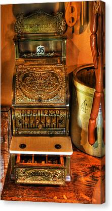 Old Time Cash Register - General Store - Vintage - Nostalgia  Canvas Print by Lee Dos Santos