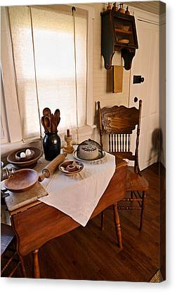 Old Time Kitchen Table Canvas Print
