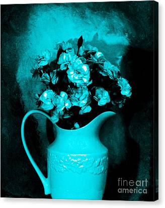 Old Time Pitcher Bouquet Canvas Print by Marsha Heiken