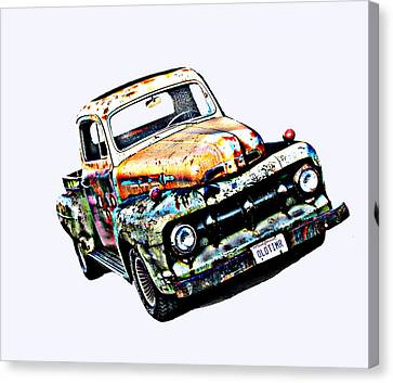 Old Timer 1952 Ford Pickup Truck Canvas Print by Samuel Sheats