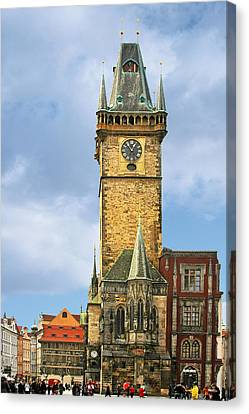 Old Town Hall Prague Cz Canvas Print by Christine Till