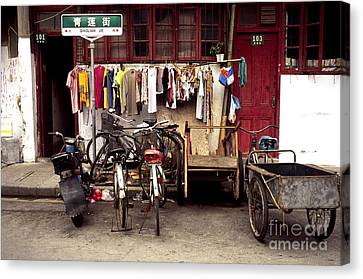 Old Town In Shanghai Canvas Print by Rafael Macia and Photo Researchers