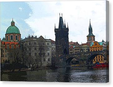 Old Town Prague Canvas Print by Paul Pobiak