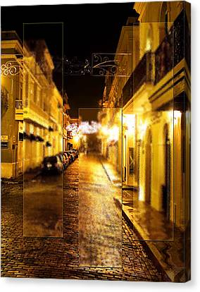 Old Town San Juan Canvas Print by Gordon Engebretson