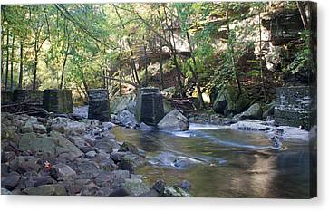 Old Train Trestles Canvas Print by David Troxel
