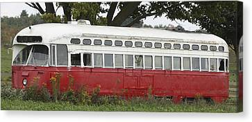 Canvas Print featuring the photograph Old Tram-street Car by Nick Mares