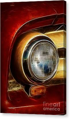 Old Truck Headlight Canvas Print by Darleen Stry