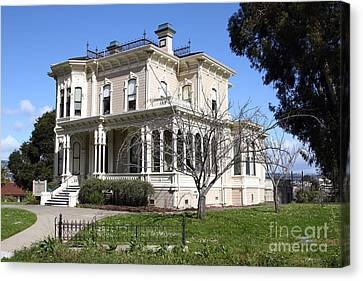 Old Victorian Camron-stanford House . Oakland California . 7d13445 Canvas Print by Wingsdomain Art and Photography