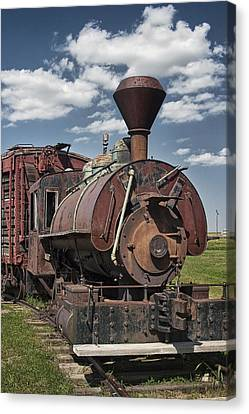 Old Vintage 1880's Railroad Train No.0394 Canvas Print by Randall Nyhof