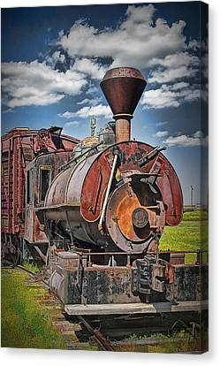 Old Vintage 1880's Railroad Train No.0394.4 Canvas Print by Randall Nyhof