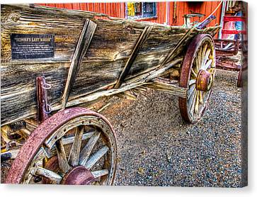 Old Wagon Canvas Print by Jon Berghoff