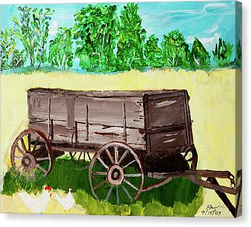 Old Wagon Canvas Print by Swabby Soileau
