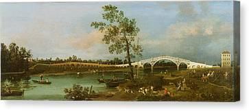 Old Walton's Bridge Canvas Print by Giovanni Antonio Canaletto