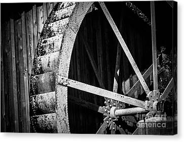 Old West Water Mill 2 Canvas Print by Darcy Michaelchuk
