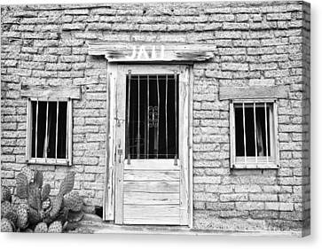 Verde River Canvas Print - Old Western Jailhouse In Black And White by James BO  Insogna