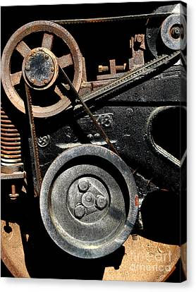 Old Western Pacific Caboose Train Wheel . 7d10626 Canvas Print